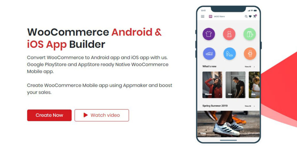 picture of woocommerce appmaker web page