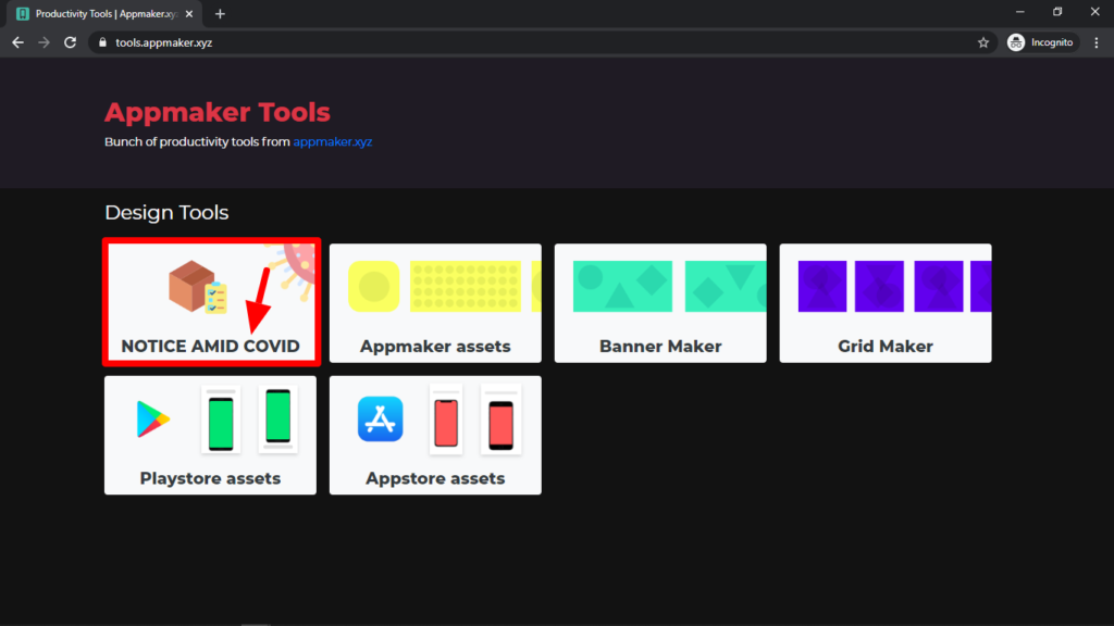 Image of the Appmaker banner tool