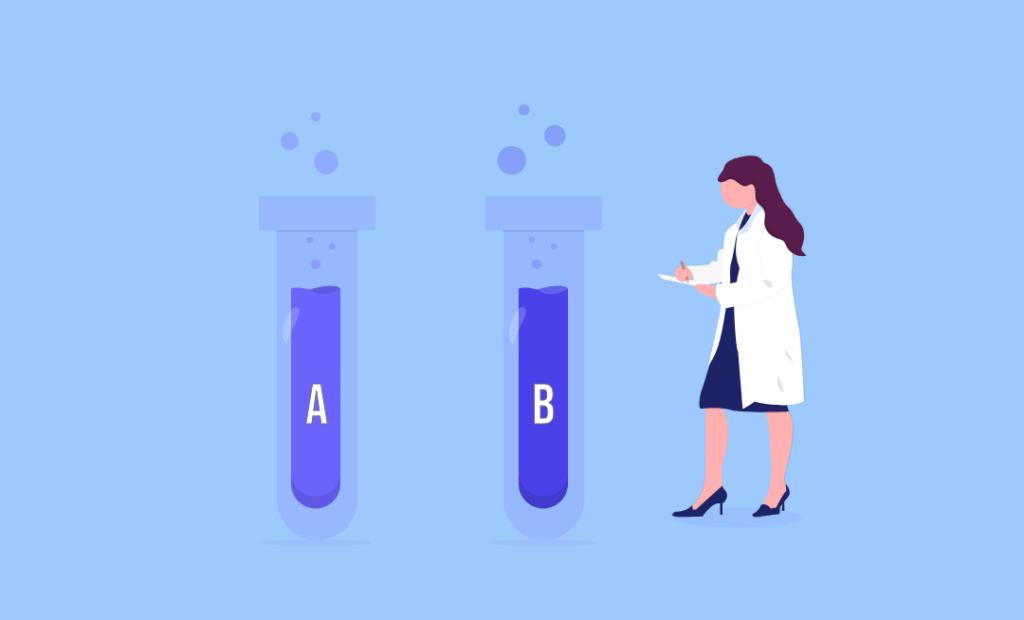 Illustrated image showing Firebase A/B testing