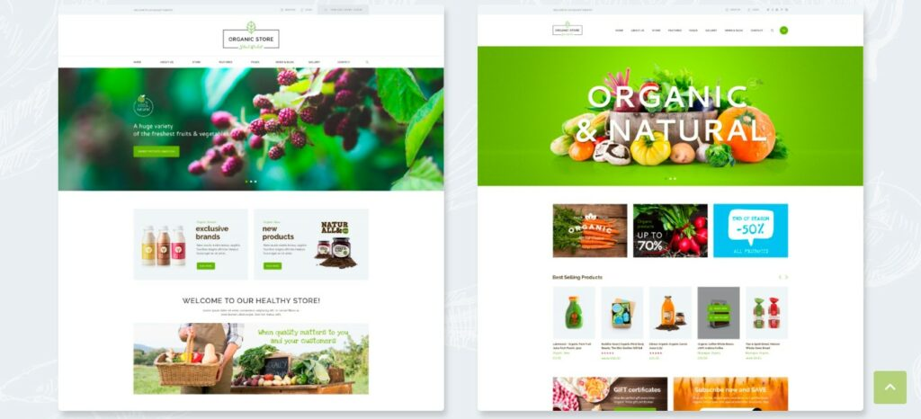 Organic WordPress Grocery theme