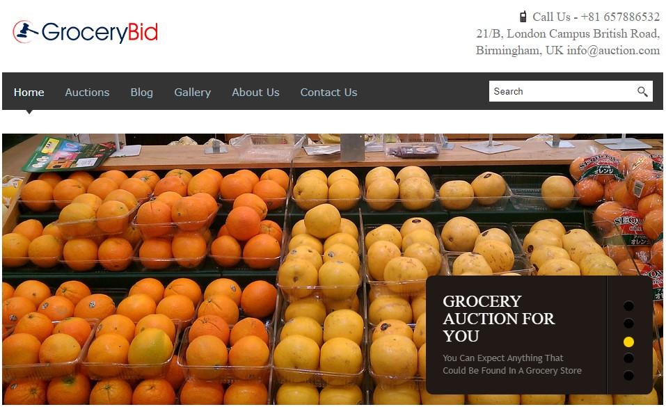 GroceryBid grocery theme