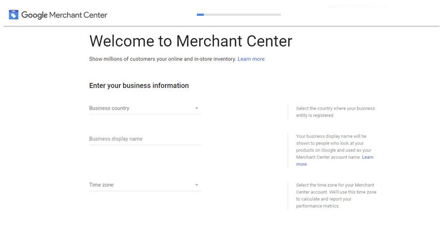 Google Merchant Basic Info