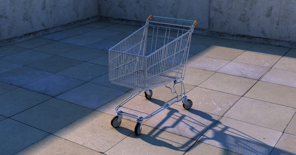 Picture of an empty cart