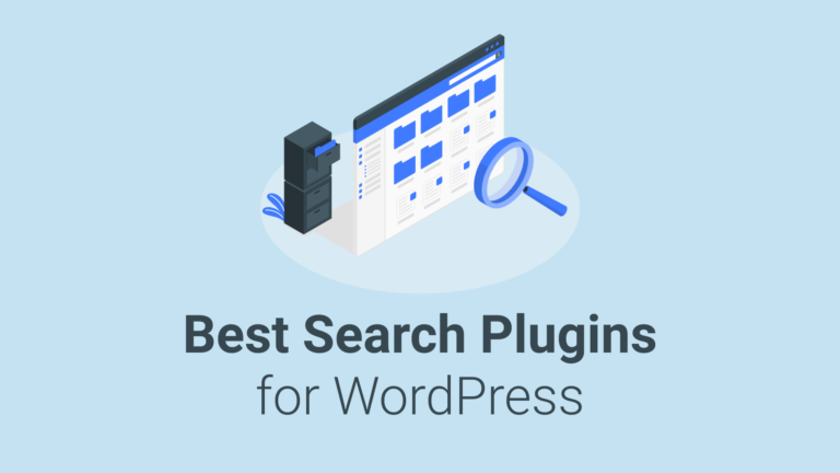 Search plugins for WordPress