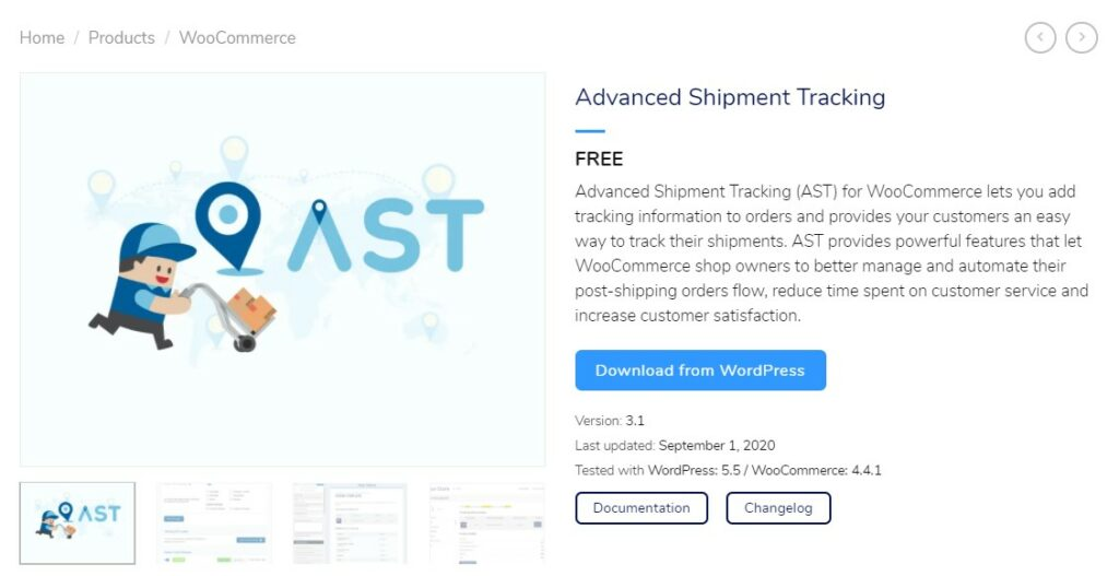 AST plugin for WordPress