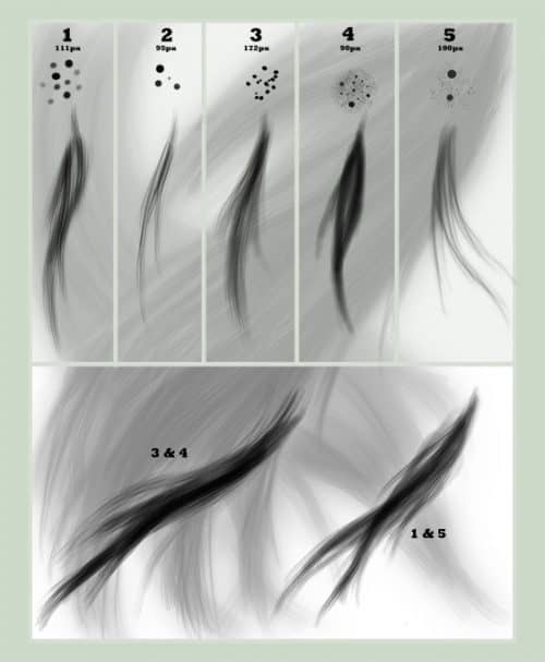 Download this Photoshop hair brush set