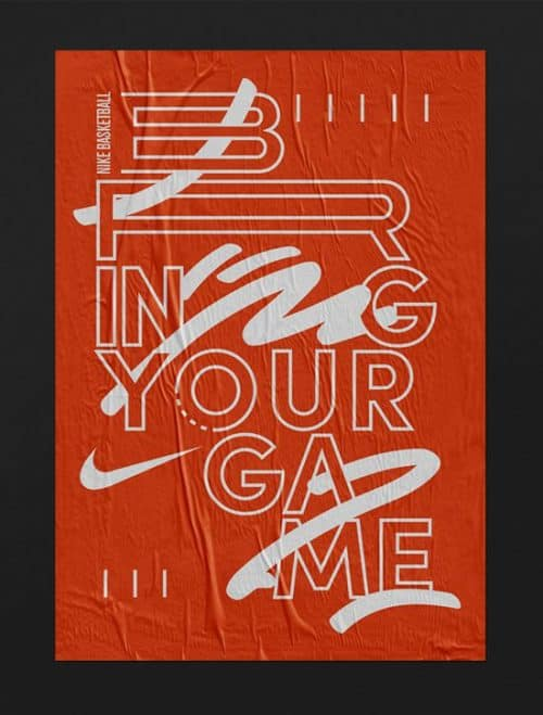 Nike Basketball – Bring Your Game – Graphic Design – Poster