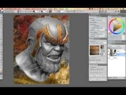 Texture Painting for flattened 3D models using Painter 2017