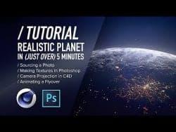 C4D TUTORIAL – Ultra-Quick Realistic Planets