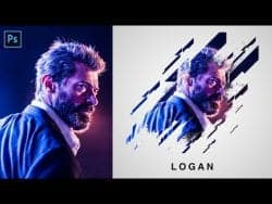 Photoshop Portrait Brush Effects Tutorial | Layer Mask Method | Photo Editing 2019