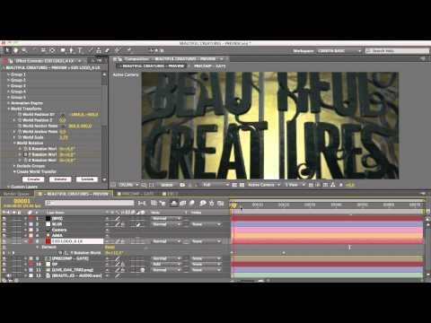 Cinema 4D Tutorial – Beautiful Creatures Title