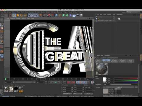 Cinema 4D Tutorial – The Great Gatsby Title
