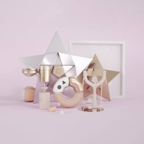 3D – Graphic Design – PINK SERIES – Fraktal Studio