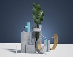 3D – Graphic Design – PINK SERIES – Fraktal Studio