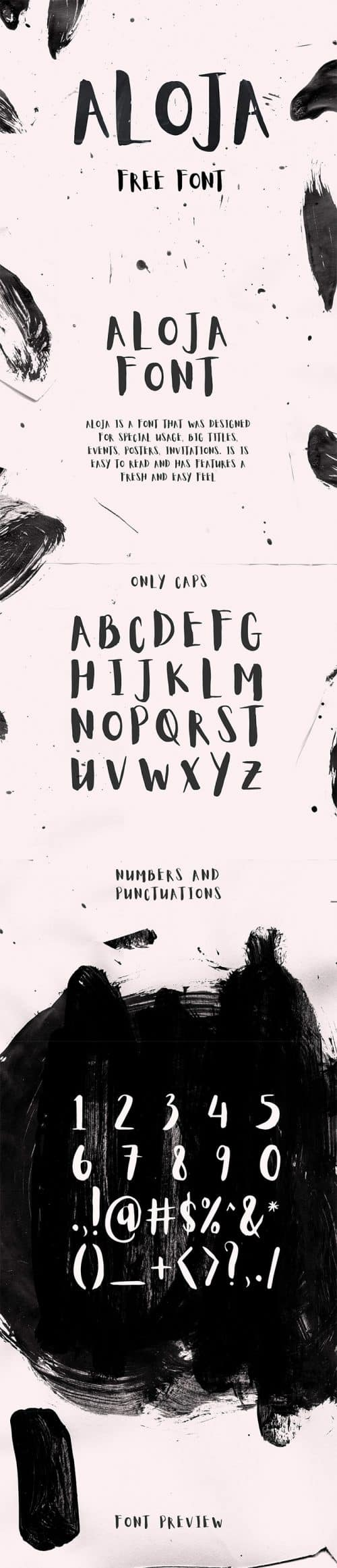 Download the Aloja Light brush typeface for free.