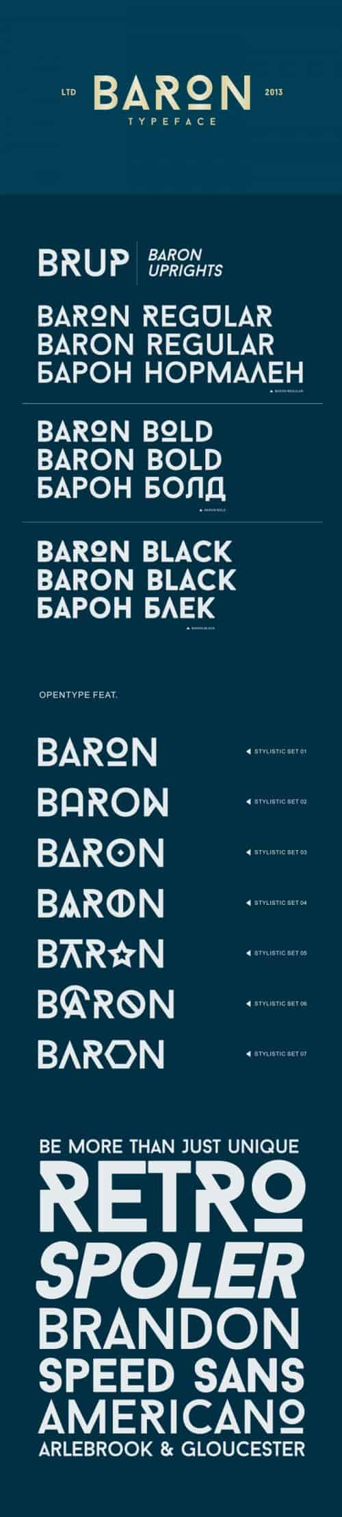 Download the Baron Typeface