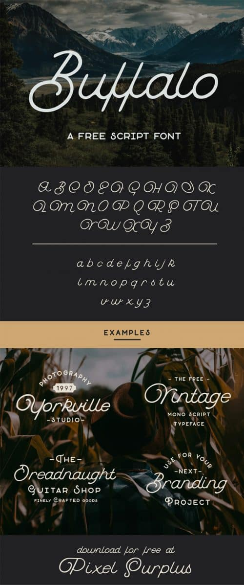 Download the Buffalo Script Typeface