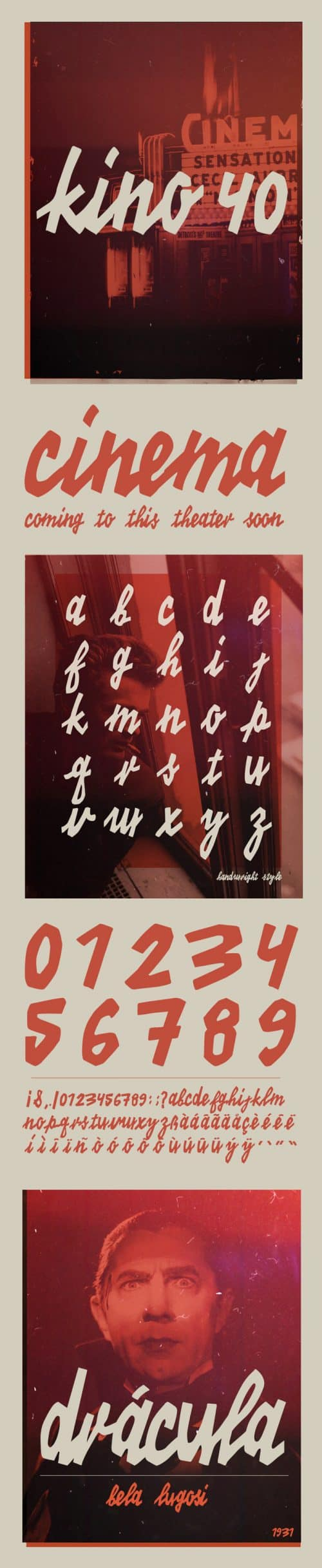 Download the Kino 40 Typeface for free.