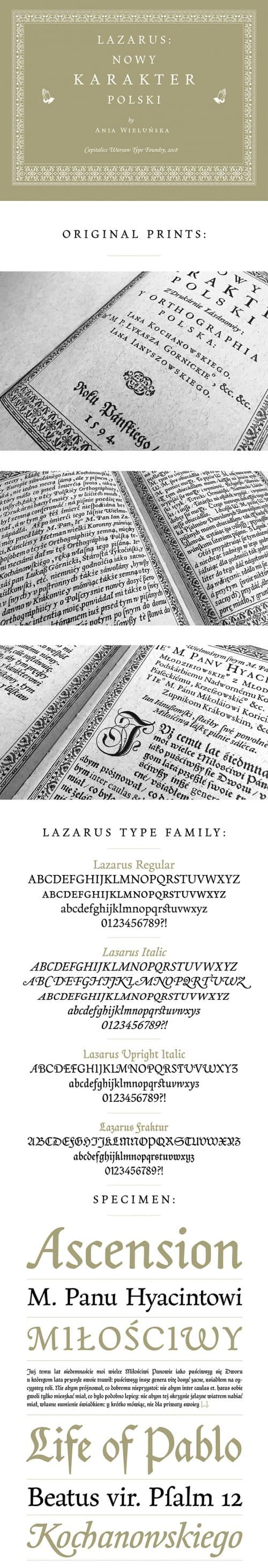 Explore the Lazarus Typeface