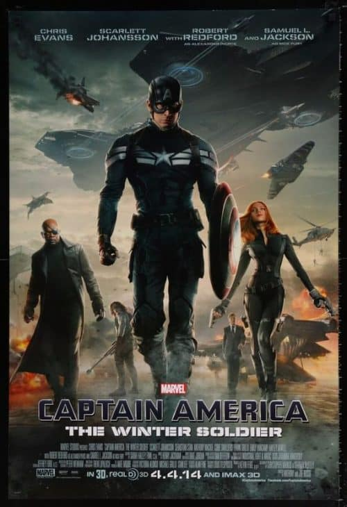 Captain America The Winter Soldier Key Art Movie Poster