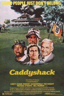 Chevy Chase Rodney Dangerfield Ted Knight Michael O'Keefe Bill Murray Key Art Movie Poster