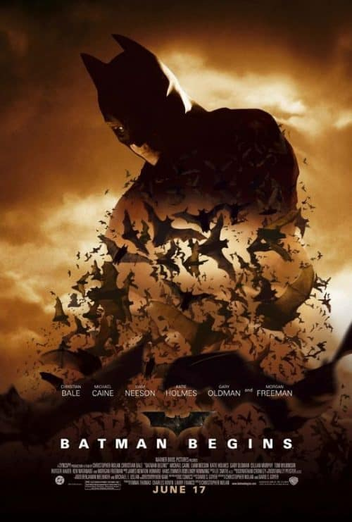 Christian Bale Batman Begins Key Art Movie Poster