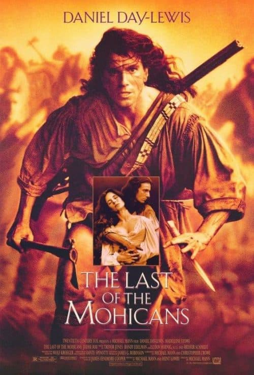 Daniel Day-Lewis The Last of the Mohicans Key Art Movie Poster