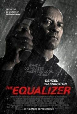 Denzel Washington The Equalizer Key Art Movie Poster