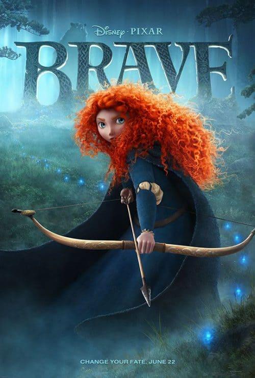 Disney Pixar Brave Key Art Movie Poster