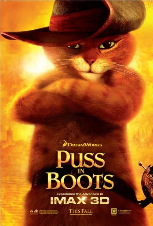 Dreamworks Puss In Boots Key Art Movie Poster