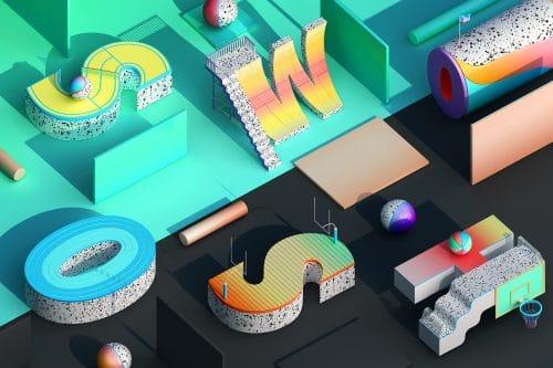 Graphic Design – Design Trends – 3D Type