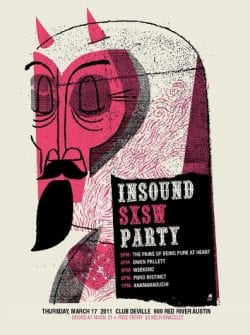 Insound SXSW Party Poster