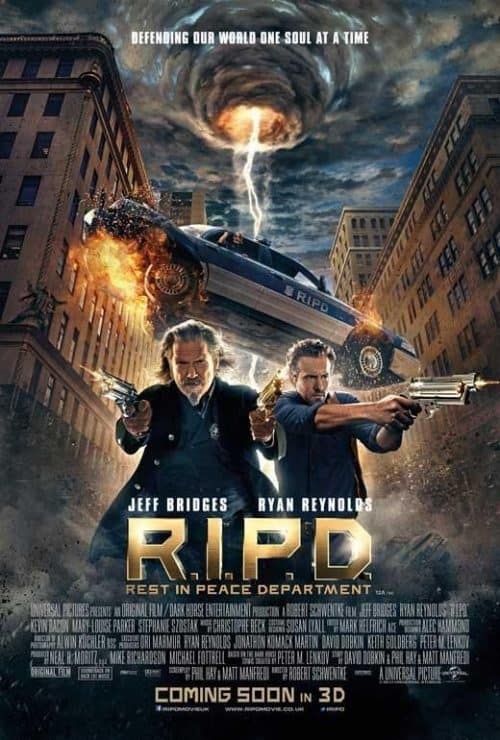 Jeff Bridges RIPD Rest In Peace Department Movie Poster Key Art