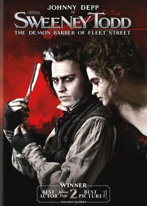 Johnny Depp Sweeney Todd The Demon Barber of Fleet Street Key Art Movie Poster