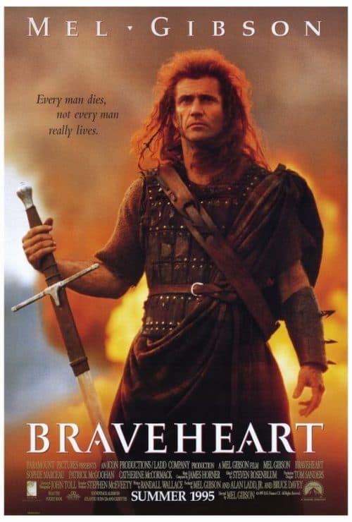 Mel Gibson Braceheart Key Art Movie Poster 01