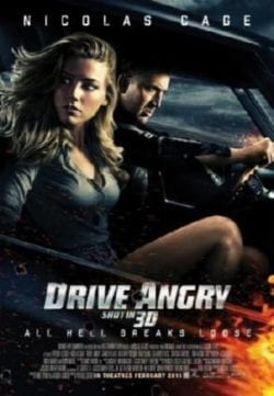 Nicolas Cage Drive Angry Key Art Movie Poster