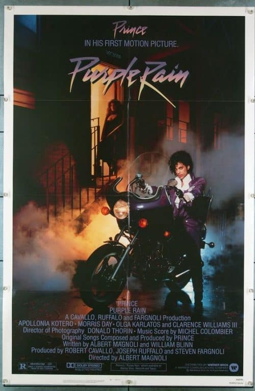 Prince Purple Rain Key Art Movie Poster