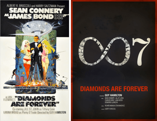 Redesigned-Movie-Posters-to-Inspire-your-Creativity-James-Bond-007-Diamonds-are-Forever