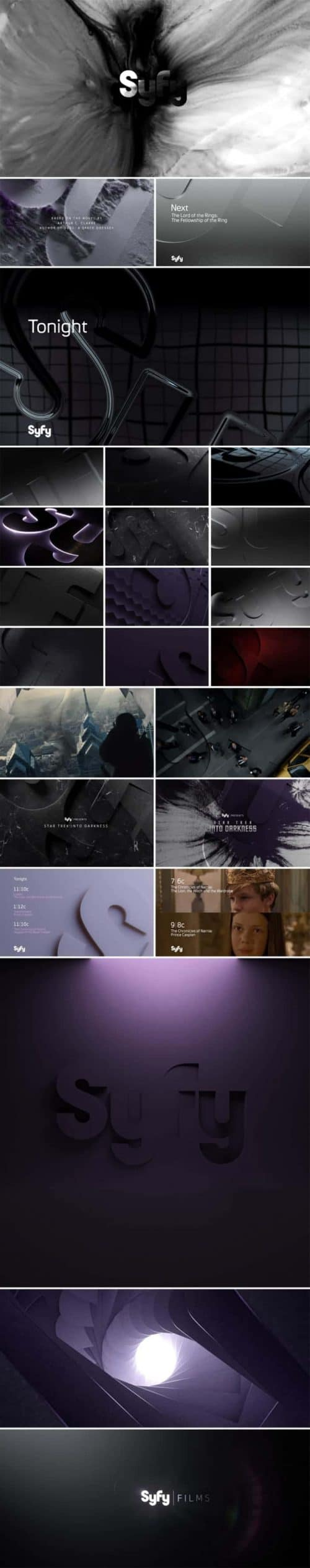 SYFY Identity – Identity and Channel Branding Frames