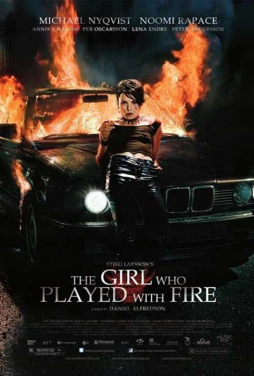 The Girl Who Played With Fire Key Art Movie Poster