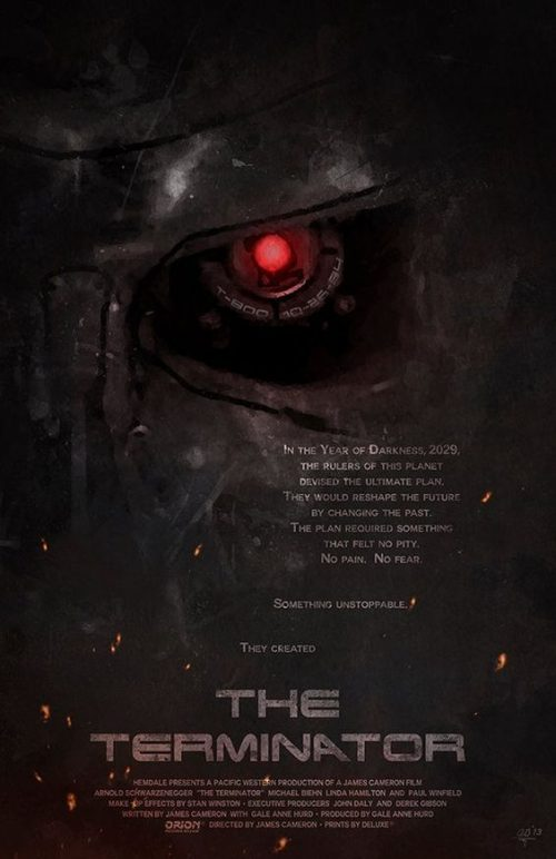 The Terminator Key Art Movie Poster