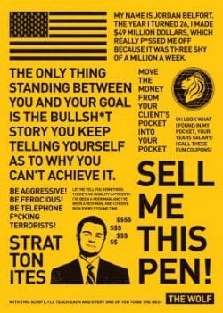 The Wolf on Wall Street Poster Design