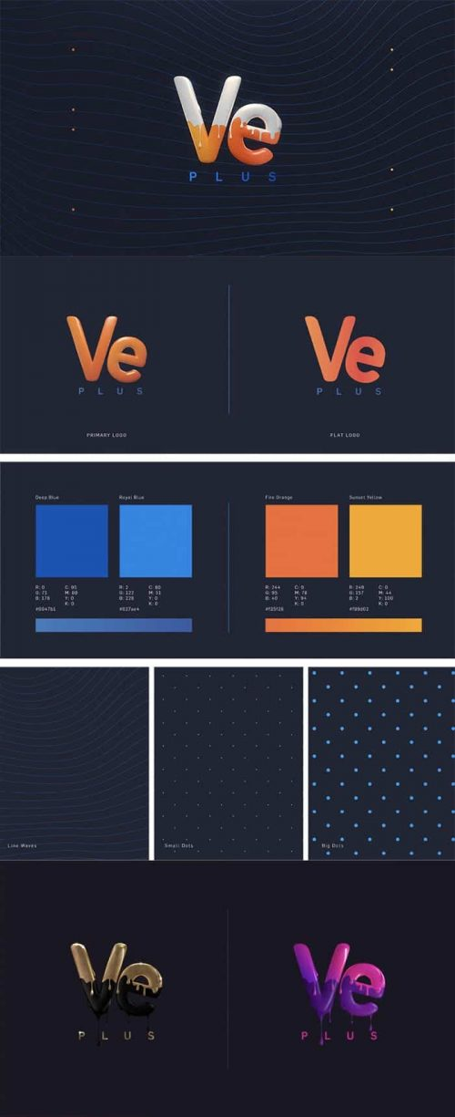 Ve-Plus – Identity and Channel Branding Frames