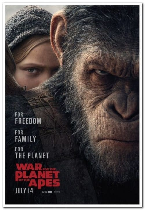 War of the Planet Of the Apes Key Art Movie Poster