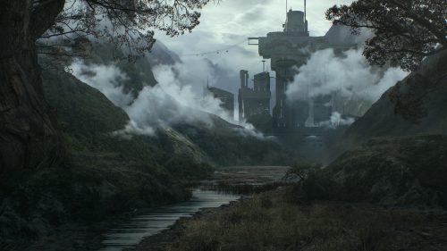 Matte Painting – Alien planet base – Waldemar van Deurse