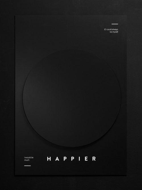 Graphic Design   Poster – Happier