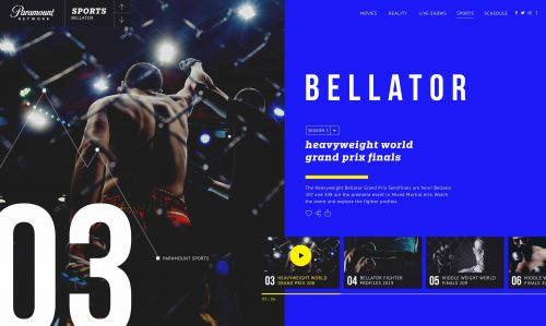 Kiely Design – Paramount Network – Bellator Web App