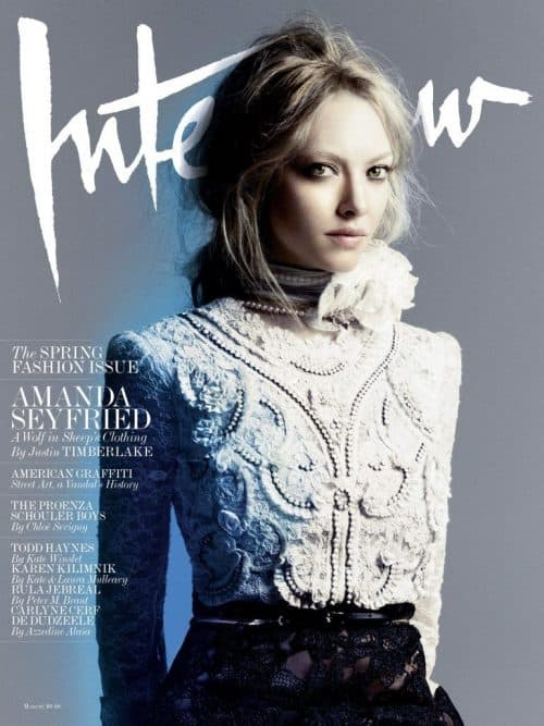 Graphic Design | Magazine | Amanda Interview Magazine March