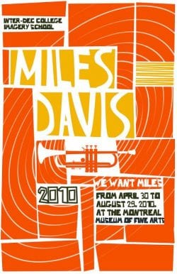 Graphic Design | Saul Bass – Miles Davis Poster