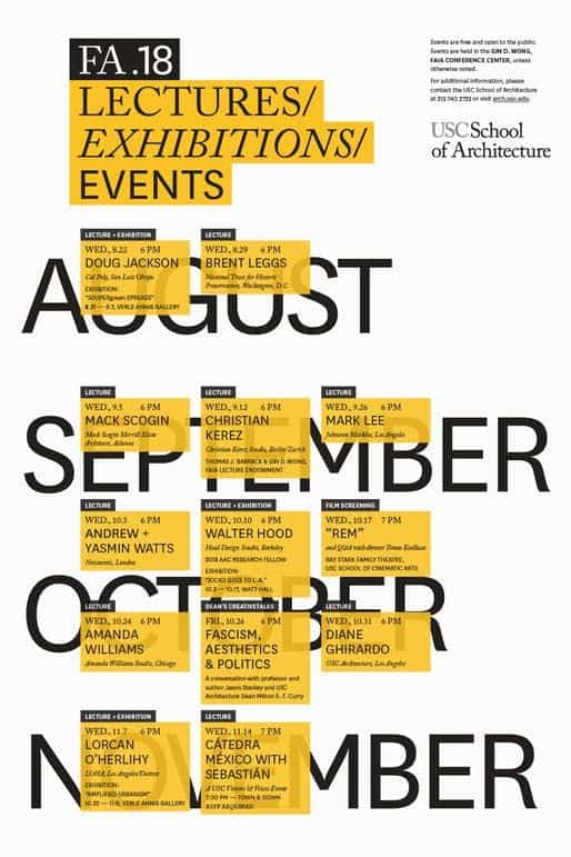 Graphic Design | Poster | Get Lectured USC Fall '18